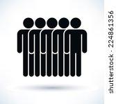 black five people  man figure ... | Shutterstock .eps vector #224861356