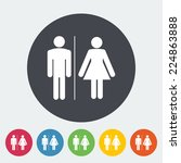 wc. single flat icon on the... | Shutterstock .eps vector #224863888