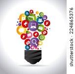 marketing design over white... | Shutterstock .eps vector #224865376