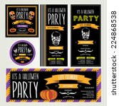 invitation halloween.vector... | Shutterstock .eps vector #224868538