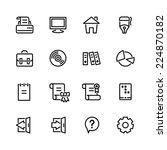 computer icon set | Shutterstock .eps vector #224870182