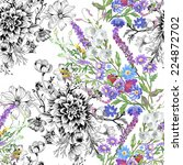 floral seamless pattern with... | Shutterstock . vector #224872702