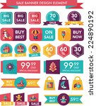 christmas sale banner design... | Shutterstock .eps vector #224890192