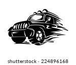 crossover car for extreme... | Shutterstock .eps vector #224896168