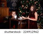 sweet little children waiting... | Shutterstock . vector #224912962