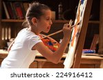 Young Talented Girl Artist...