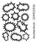 black jagged outline speech...   Shutterstock .eps vector #224922526