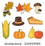 thanksgiving day vector set | Shutterstock .eps vector #224925985