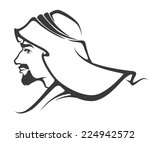 handsome arabian man | Shutterstock .eps vector #224942572