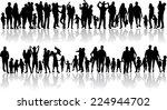family silhouettes  | Shutterstock .eps vector #224944702