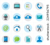 flat icons for web icons and... | Shutterstock .eps vector #224956795