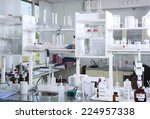 chemical laboratory background.... | Shutterstock . vector #224957338