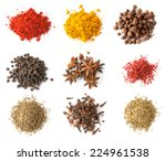 set of spices  red and black... | Shutterstock . vector #224961538