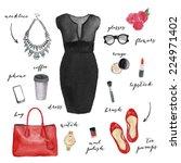 Fashion Illustration. Elegant...