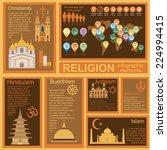 religion infographics. vector... | Shutterstock .eps vector #224994415