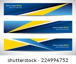 web header  set of vector... | Shutterstock .eps vector #224996752