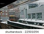waiting on the train platform...   Shutterstock . vector #22501054