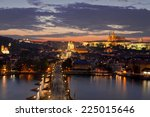 Prague By Night. Top View