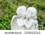 Angels Couple Statue In Garden