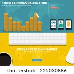 flat design concepts for... | Shutterstock .eps vector #225030886