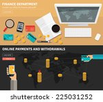 flat design concepts for... | Shutterstock .eps vector #225031252