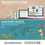 flat design concepts for... | Shutterstock .eps vector #225031288