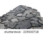 Asphalt Road With Cracks ...