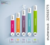 infographics vector design... | Shutterstock .eps vector #225033775