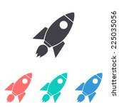 rocket icon | Shutterstock .eps vector #225035056