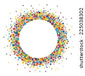 confetti round frame | Shutterstock .eps vector #225038302