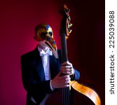 close up of double bass  wooden ... | Shutterstock . vector #225039088