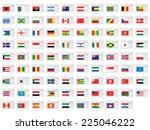 an illustrated set of world... | Shutterstock . vector #225046222