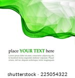 green waves and triangles... | Shutterstock .eps vector #225054322