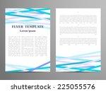 vector brochure template design ... | Shutterstock .eps vector #225055576
