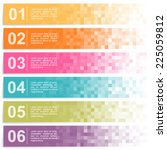 Set Of Colorful Pixel Banners...