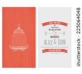 wedding invitation card. save... | Shutterstock .eps vector #225064048