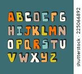 cute hand drawn alphabet made... | Shutterstock .eps vector #225066892