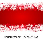 christmas red background  | Shutterstock .eps vector #225074365