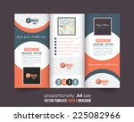 tri fold brochure and catalog... | Shutterstock .eps vector #225082966