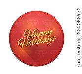 Happy Holidays Badge  Christma...