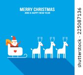 cute santa claus with presents  ... | Shutterstock .eps vector #225087136
