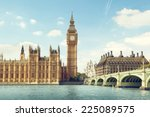 big ben in sunny day  london | Shutterstock . vector #225089575