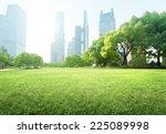 park in  lujiazui financial... | Shutterstock . vector #225089998