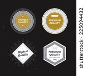 retro labels set | Shutterstock .eps vector #225094432