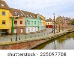 colorful apartment building in... | Shutterstock . vector #225097708