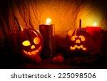 Halloween Pumpkins With Big...