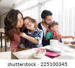 young latin family having... | Shutterstock . vector #225100345