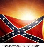 Confederate Flag In Front Of...