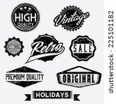 vector black and white grunge... | Shutterstock .eps vector #225101182