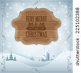 christmas background with retro ... | Shutterstock .eps vector #225102388